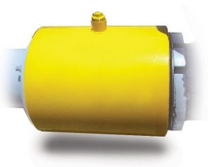 Jacketed In-Line Flanged Rubber Check Valve