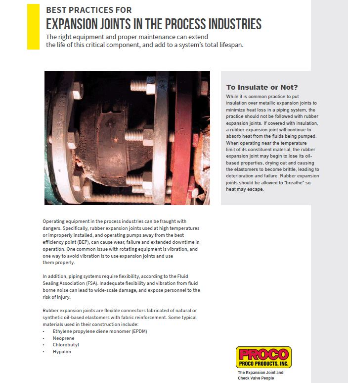 expansion joints, process industries